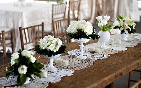 Sew Lace And Doilies Together Or Transform Antique Table Cloths Into Vintage Inspired Runners Simply Add Trims For Softer Edges