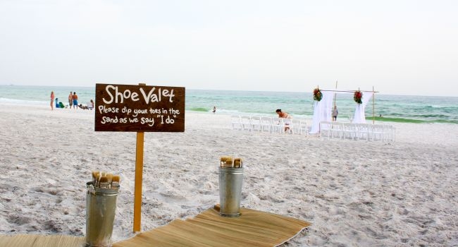 Shoe Valet Beach Wedding