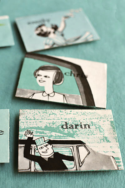 vintage escort cards