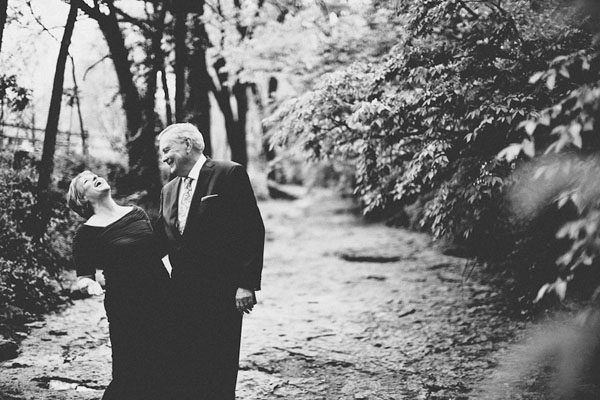 black and white bride and groom portrait