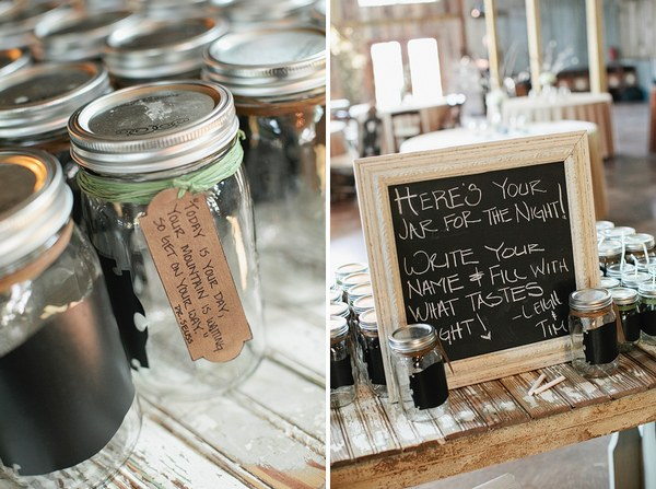 mason jar drinking glasses for wedding guests