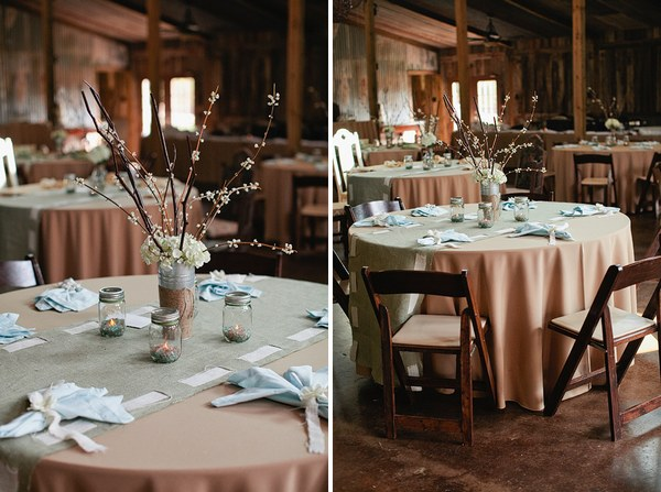 ranch wedding table settings