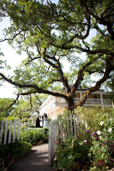 California ranch outdoor wedding ceremony
