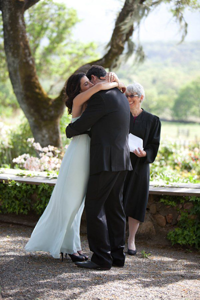 California ranch wedding ceremony