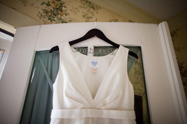 simple J. Crew wedding dress