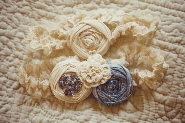 fabric flower garter