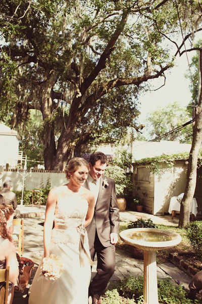 Savannah courtyard wedding