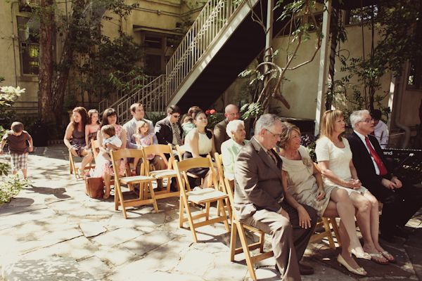 Savannah courtyard wedding ceremony