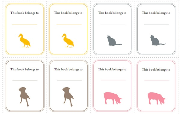 Bookplate templates