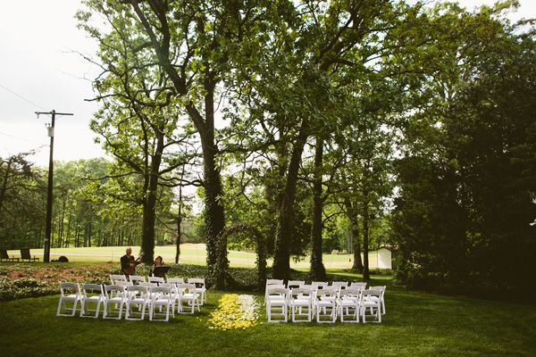 North Carolina outdoor wedding ceremony set-up
