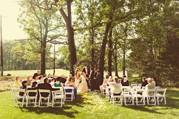 North Carolina backyard wedding reception