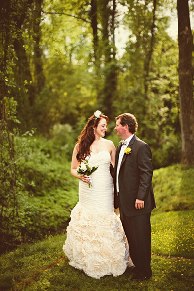 North Carolina poolside wedding