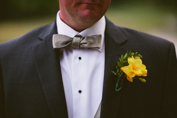 yellow flower boutonniere