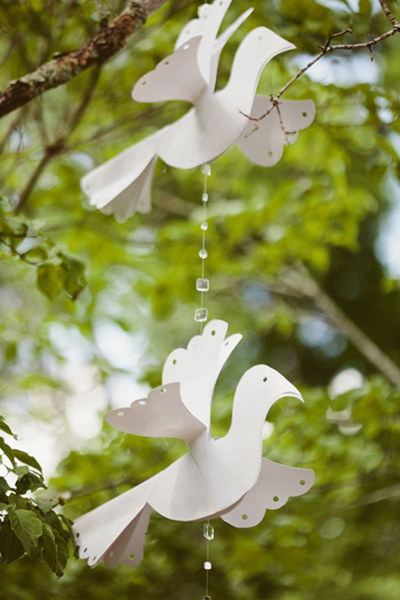 paper doves wedding decor
