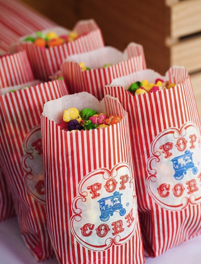 Carnival inspired wedding treats