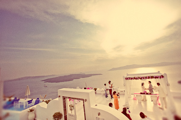 outdoor Santorini wedding ceremony