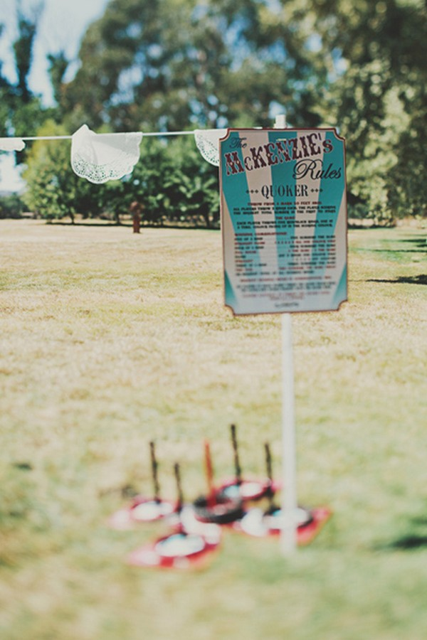 outdoor Australian wedding decoration