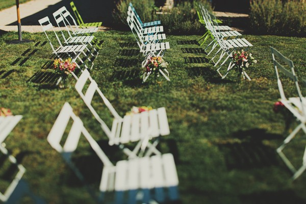 chairs set up at outdoor wedding ceremony