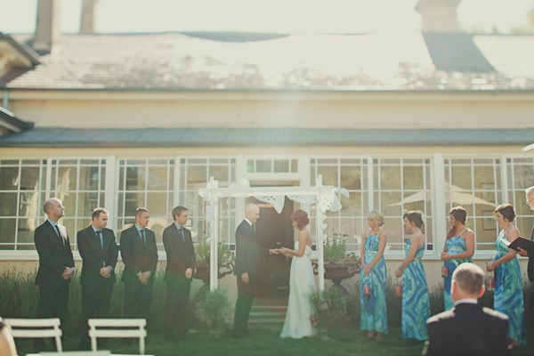 outdoor Australian homestead wedding