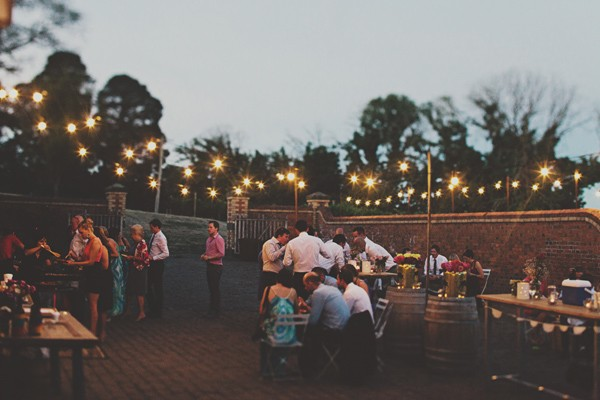 outdoor Australian wedding reception