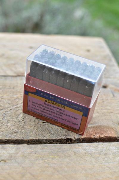 steel stamping set