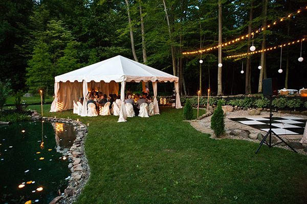Backyard Wedding Receptions sarah and zac's $7,000 backyard wedding