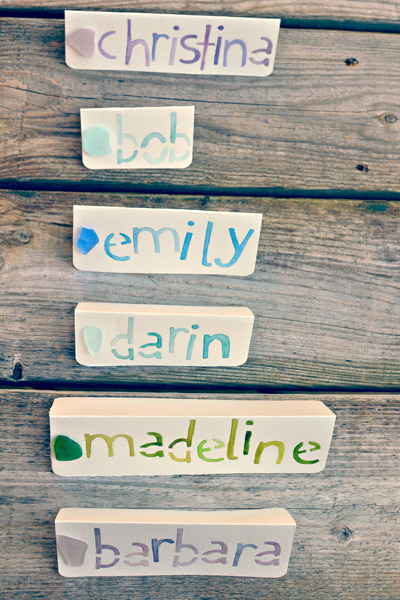 sea glass name cards