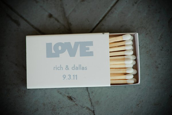 matchbox wedding favor