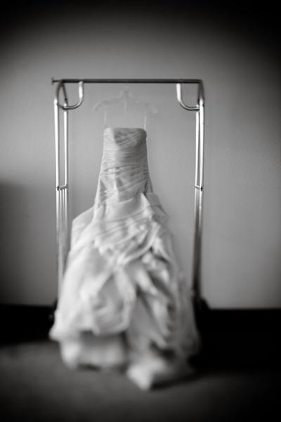 ruffled Vera Wang gown