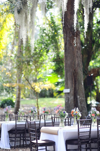 Florida park wedding reception