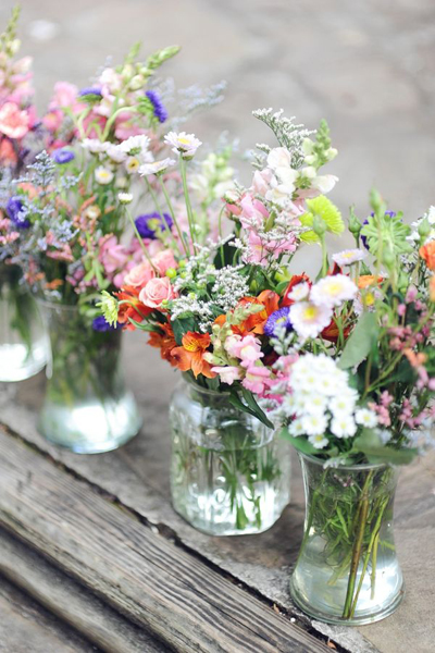 mason jar flower arrangements