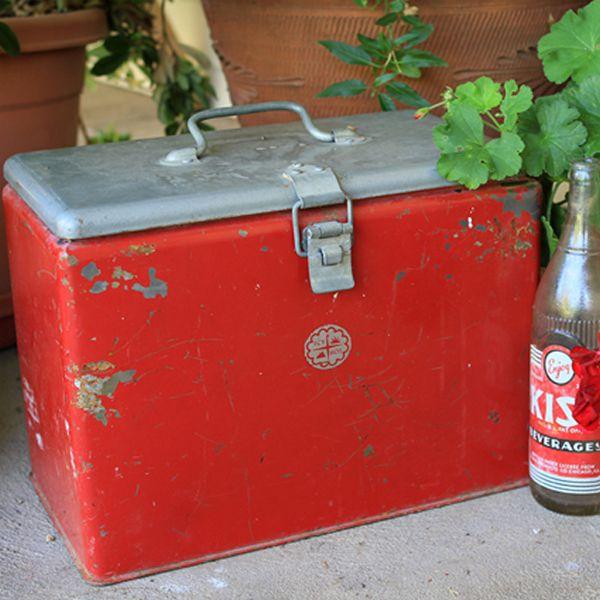 vintage ice chest