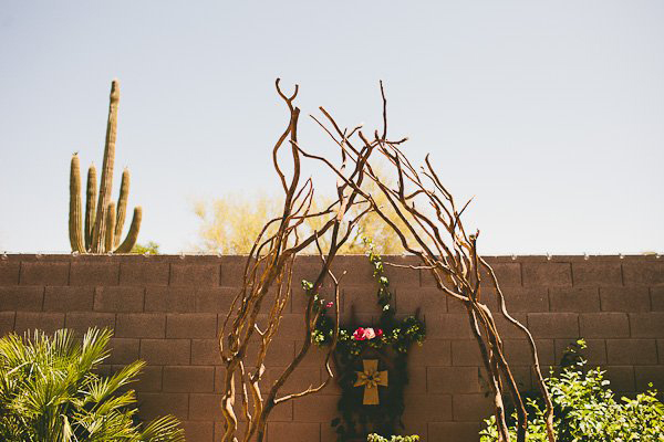 Arizona backyard wedding ceremony
