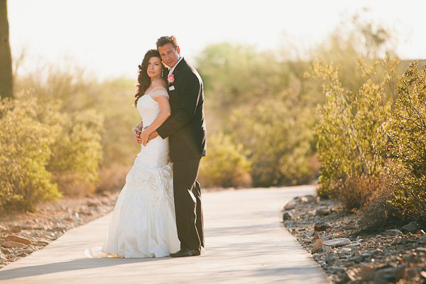 Arizona backyard wedding
