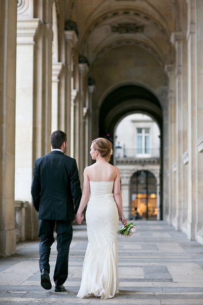 Destination elopement in Paris