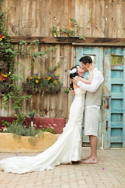 Arizona garden elopement