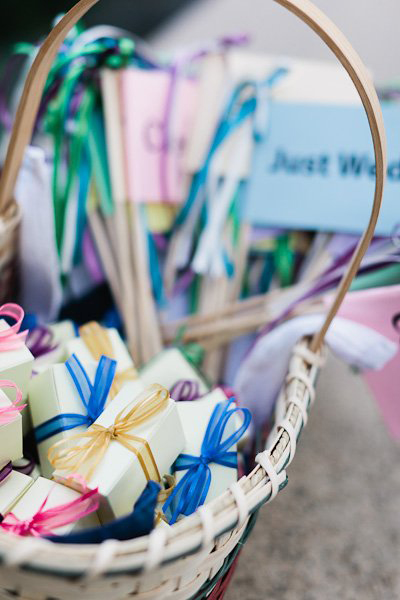 basket of guest favors