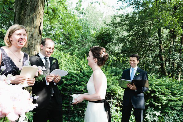 Intimate wedding ceremony in Central Park