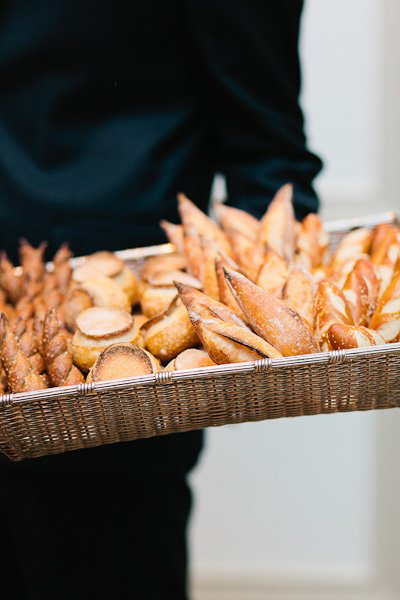 bread basket at wedding