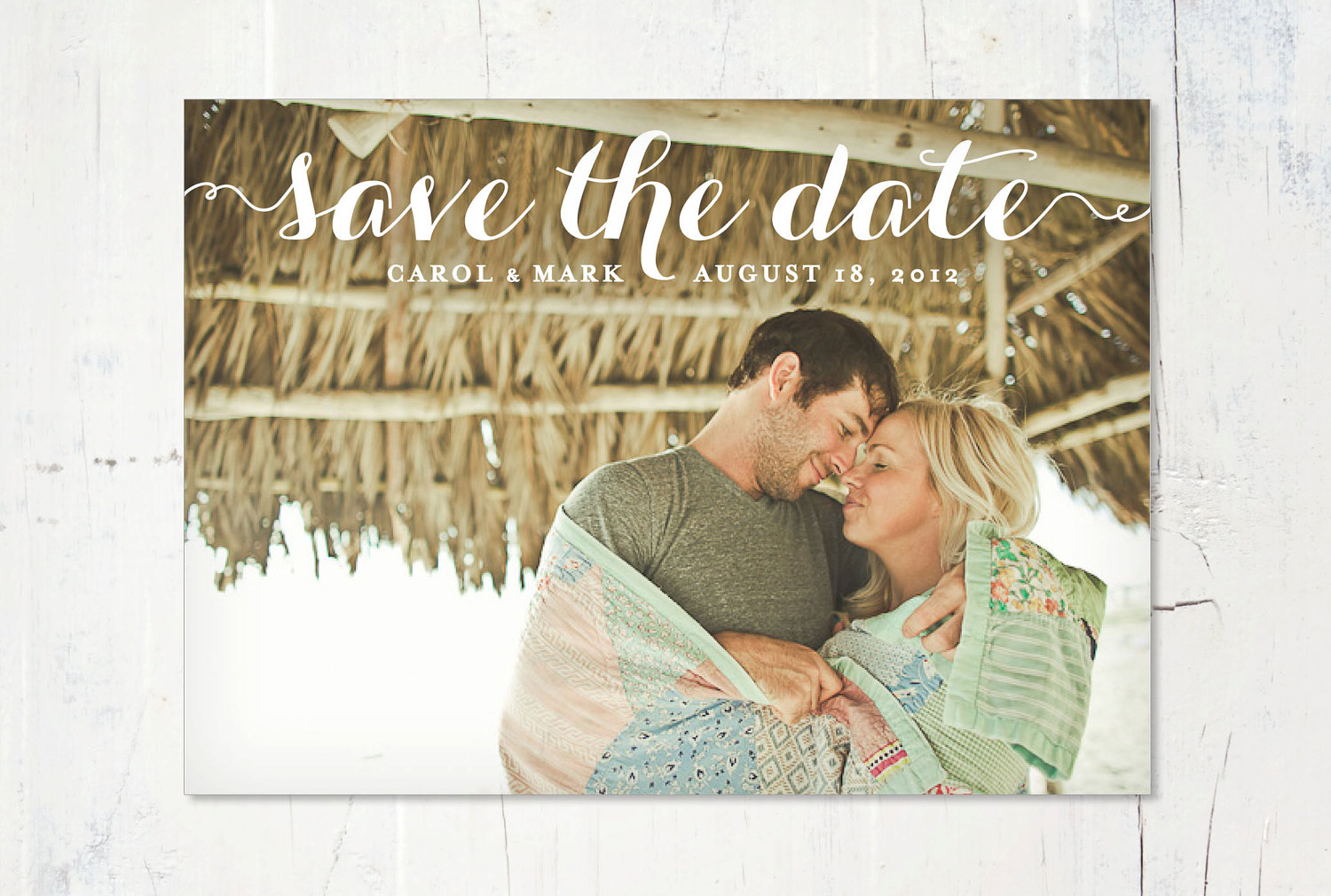 ... Save The Date / Save-The-Date Wedding Invitation Card Template