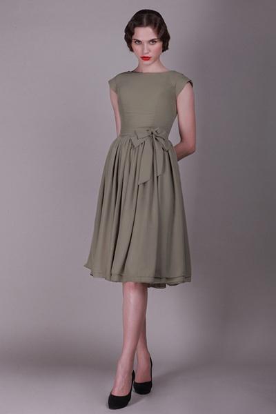 Vintage green bridesmaids dress