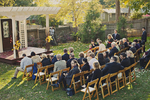 Urban farm wedding ceremony