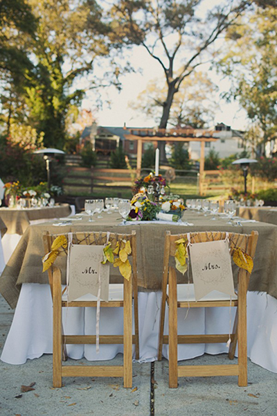 Urban farm outdoor wedding reception