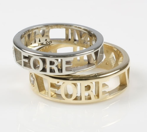Gold name message bands