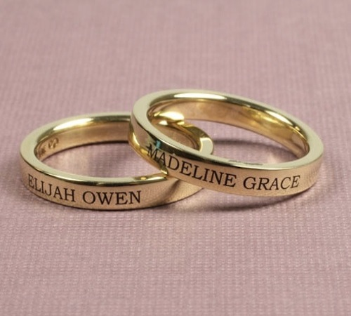 Gold name bands