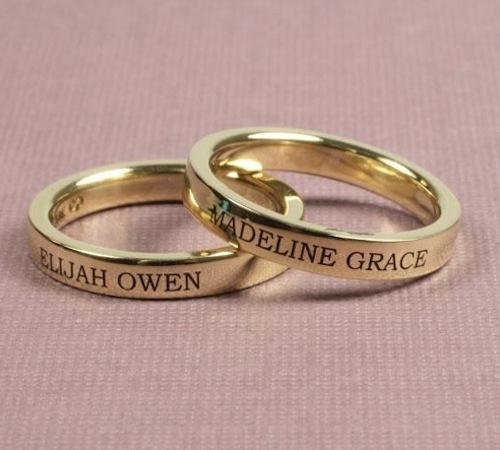 Gold Name Bands