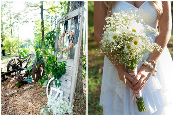 daisy and baby's breath bouquet