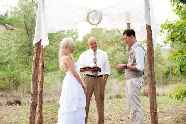 intimate outdoor country wedding
