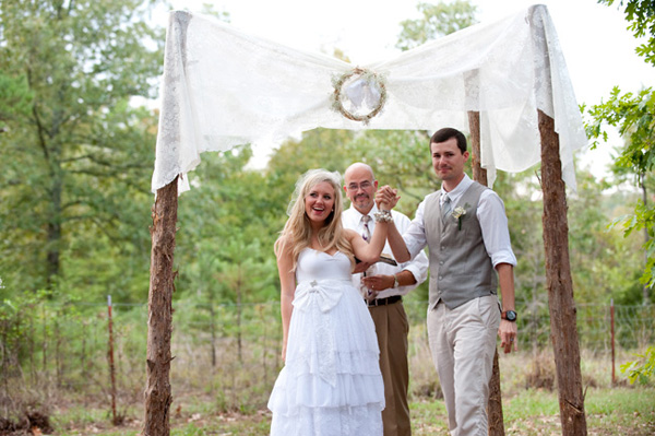 country wedding ceremony