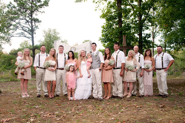 Country Wedding Party Portrait